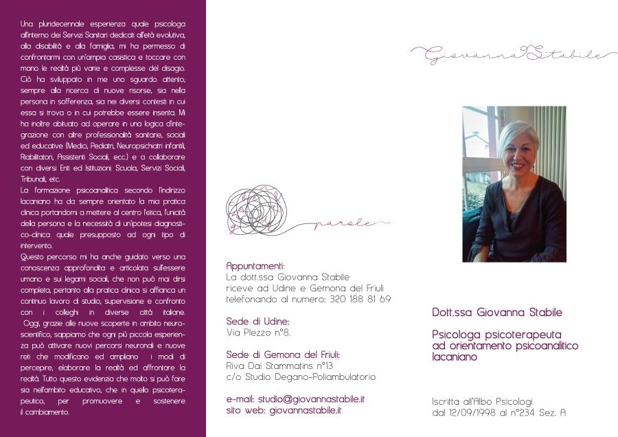 giovanna stabile psicologa psicoterapeuta età infantile udine gemona